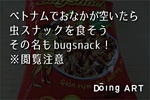 ベトナムの珍土産、虫スナック「bugsnack」! ※閲覧注意