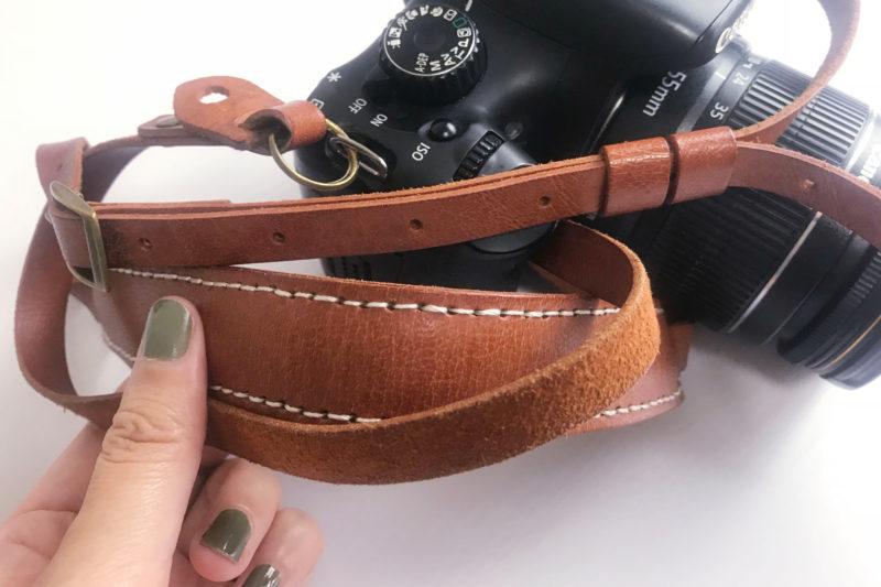 旅行の便利グッズの本革のカメラストラップ