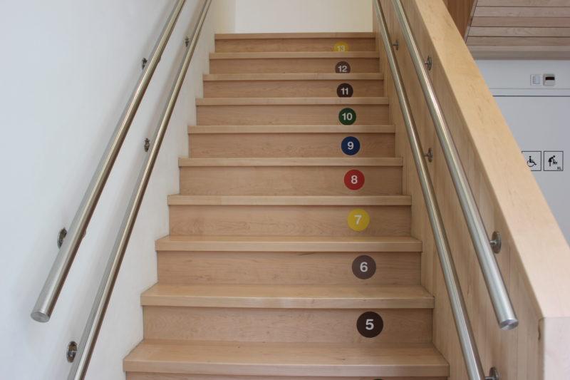 オランダユトレヒトのミッフィーミュージアムの階段