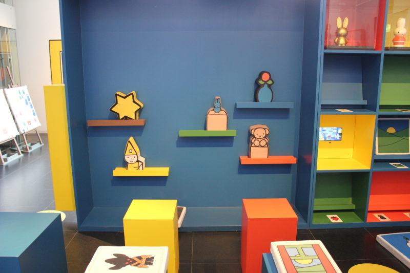 オランダユトレヒトのミッフィーミュージアムのおもちゃコーナー