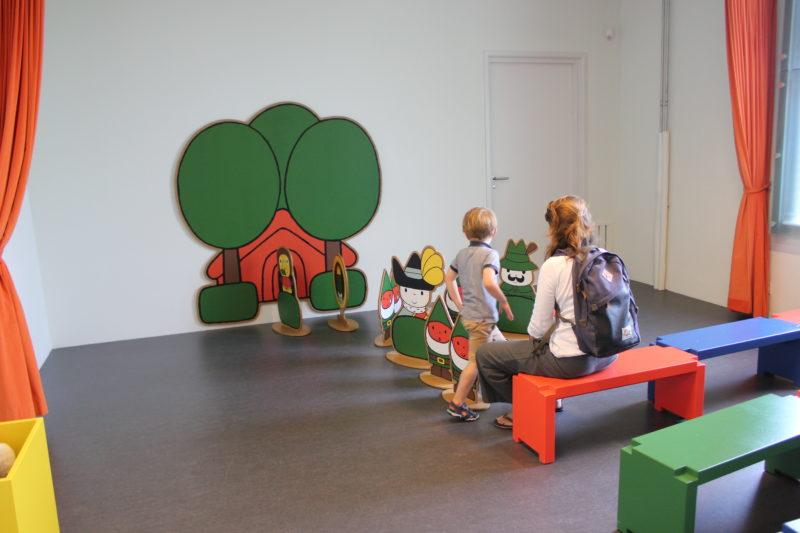 オランダユトレヒトのミッフィーミュージアムのアスレチックコーナー