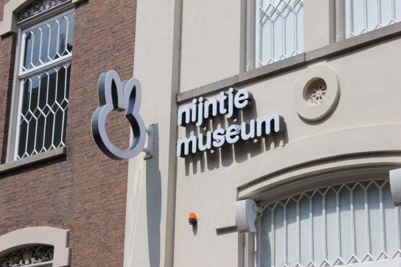 オランダユトレヒトのナインチェミュージアムの看板