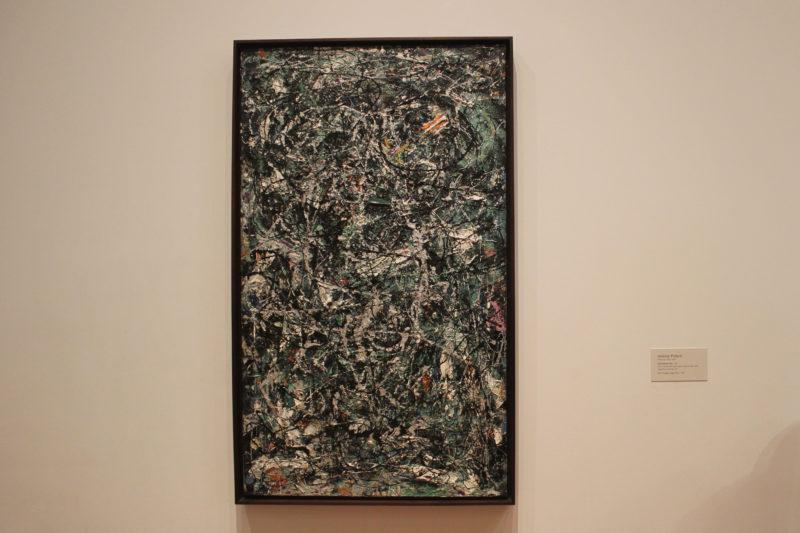 MoMA美術館のジャクソンポロック抽象画