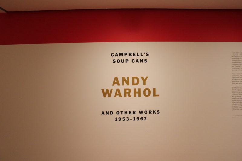MoMA美術館のアンディーウォーホルエントランス