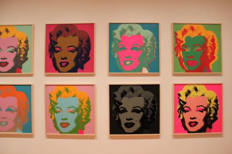 MoMA美術館のアンディーウォーホルアート