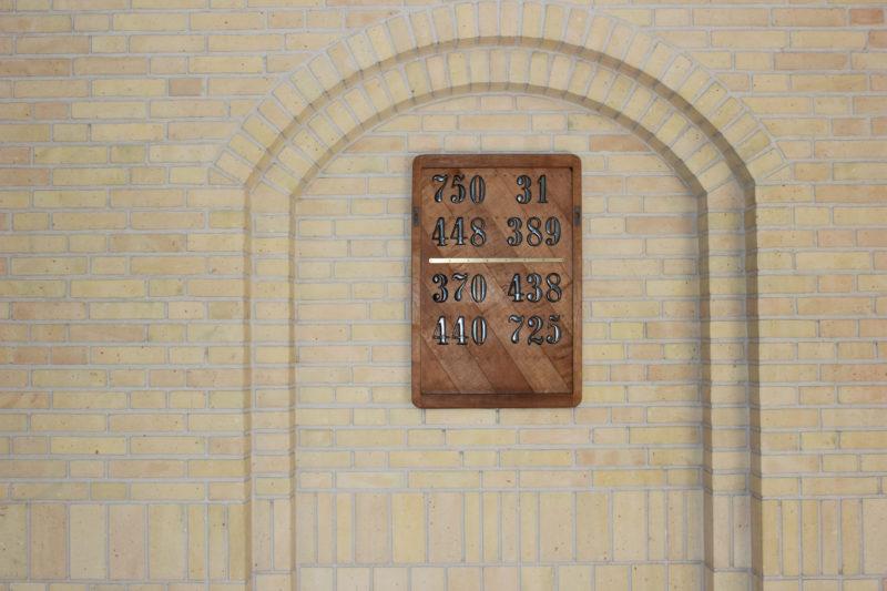 デンマークの教会グルントヴィークスのナンバープレート