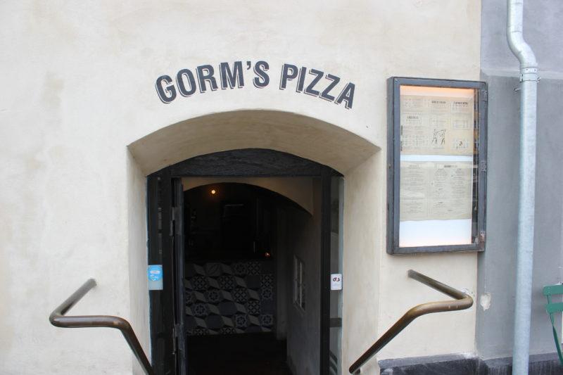 デンマークのピザ屋さんGormspizzaの入り口
