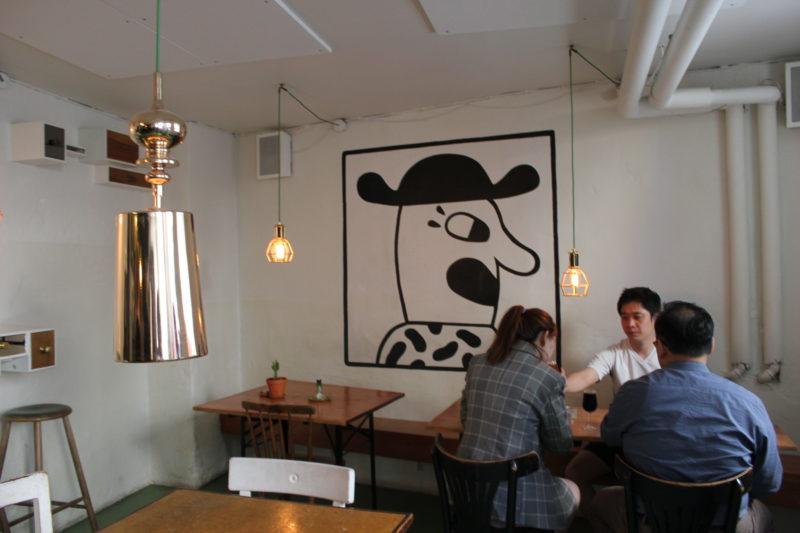 デンマークのビール屋さんミッケラービールの壁