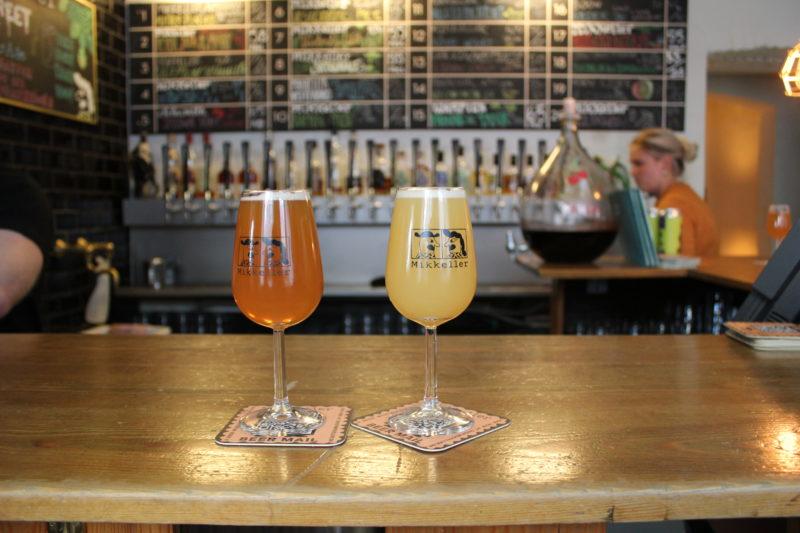 デンマークのビール屋さんミッケラービールのグレープフルーツ味のビール