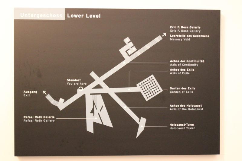 ドイツベルリンユダヤ博物館の地図