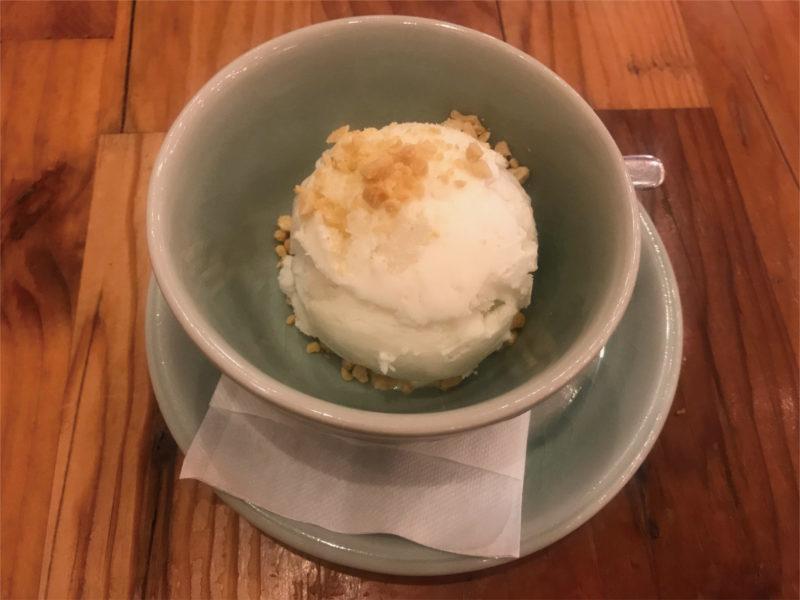 タイストリートフードのココナッツアイス