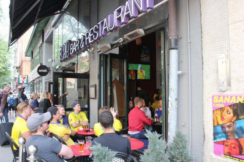 スウェーデンワールドカップを見る人たち