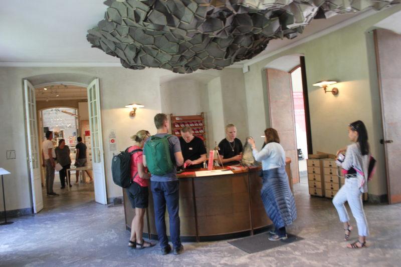 デザインミュージアムデンマークの受付