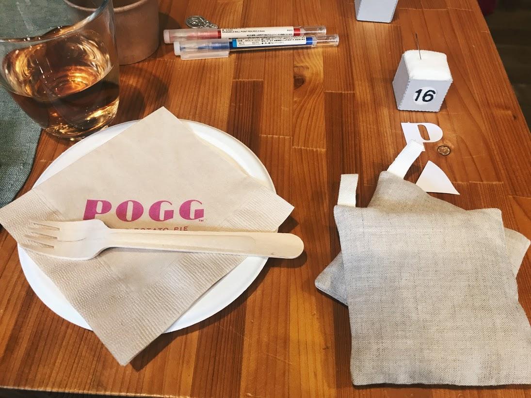 POGGのお皿とコースター