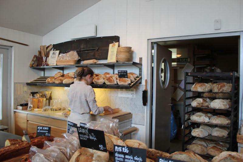 スウェーデンローゼンダールガーデンの温室にあるパン屋さん