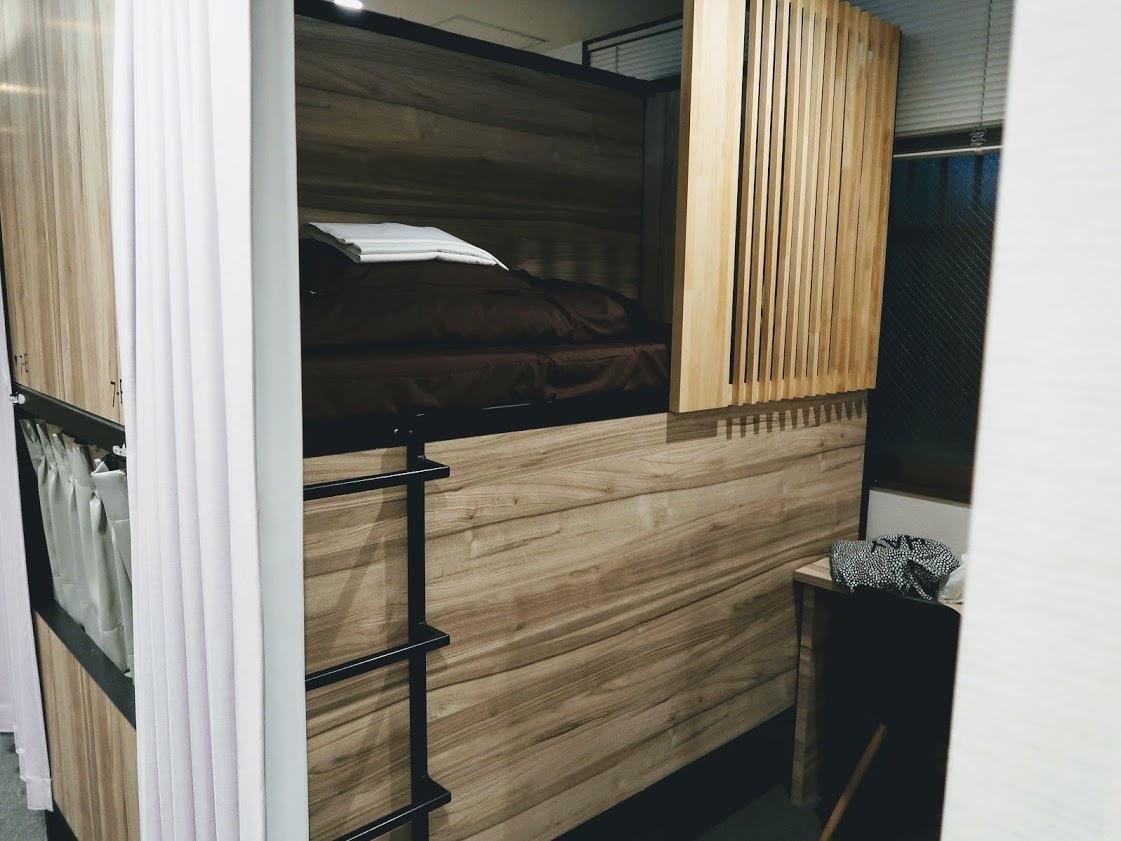 QooHostelOsakaの半個室