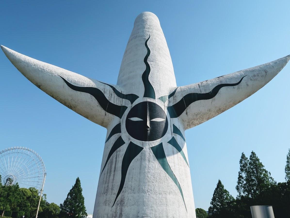 万博記念公園の太陽の塔の裏側