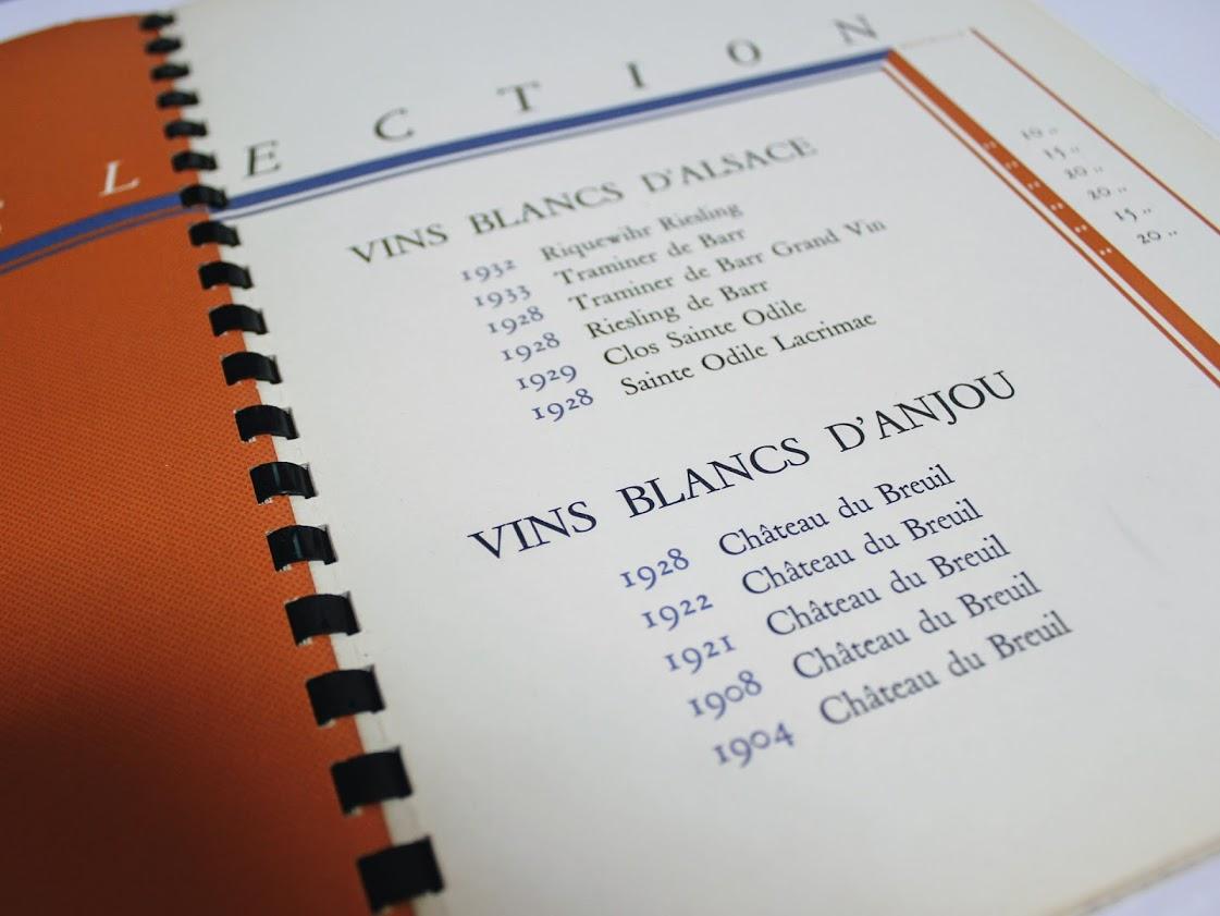 Books&Thingsで購入したカッサンドルのワインリストの中面