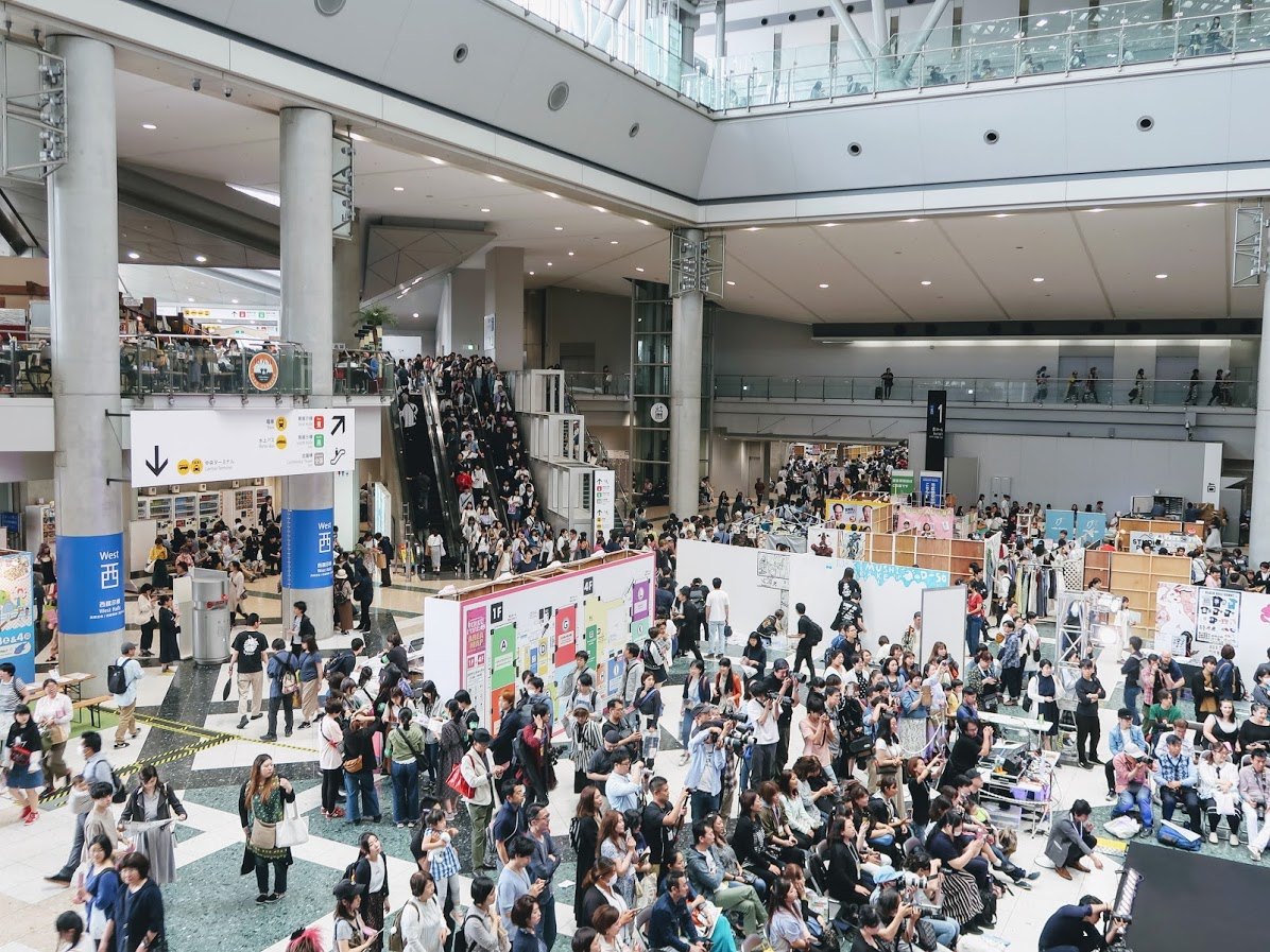 デザインフェスタの会場東京ビッグサイト