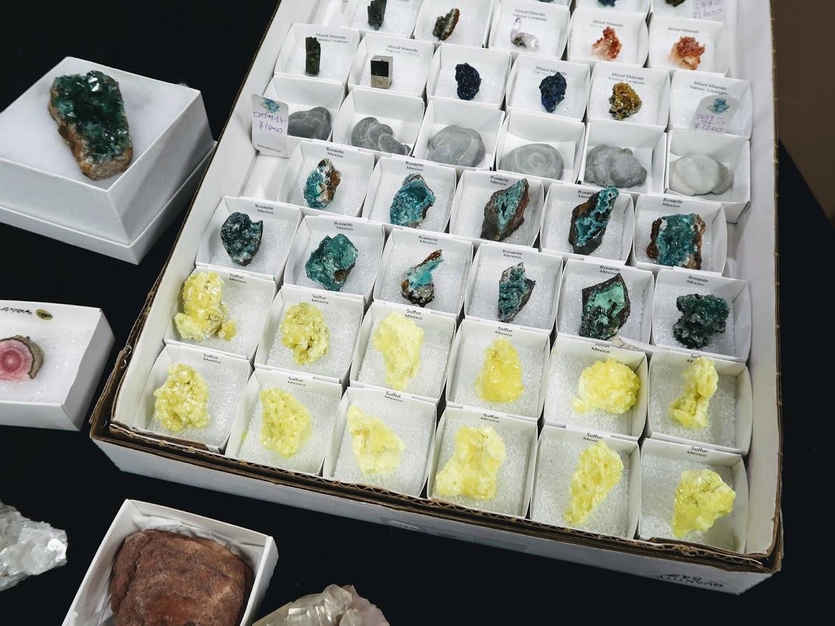 石フリマのローザサイトとサルファー