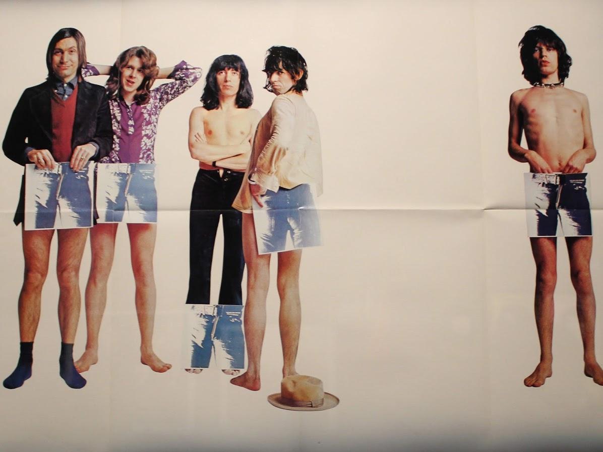 ローリングストーンズのスティッキーフィンガーズのポスター