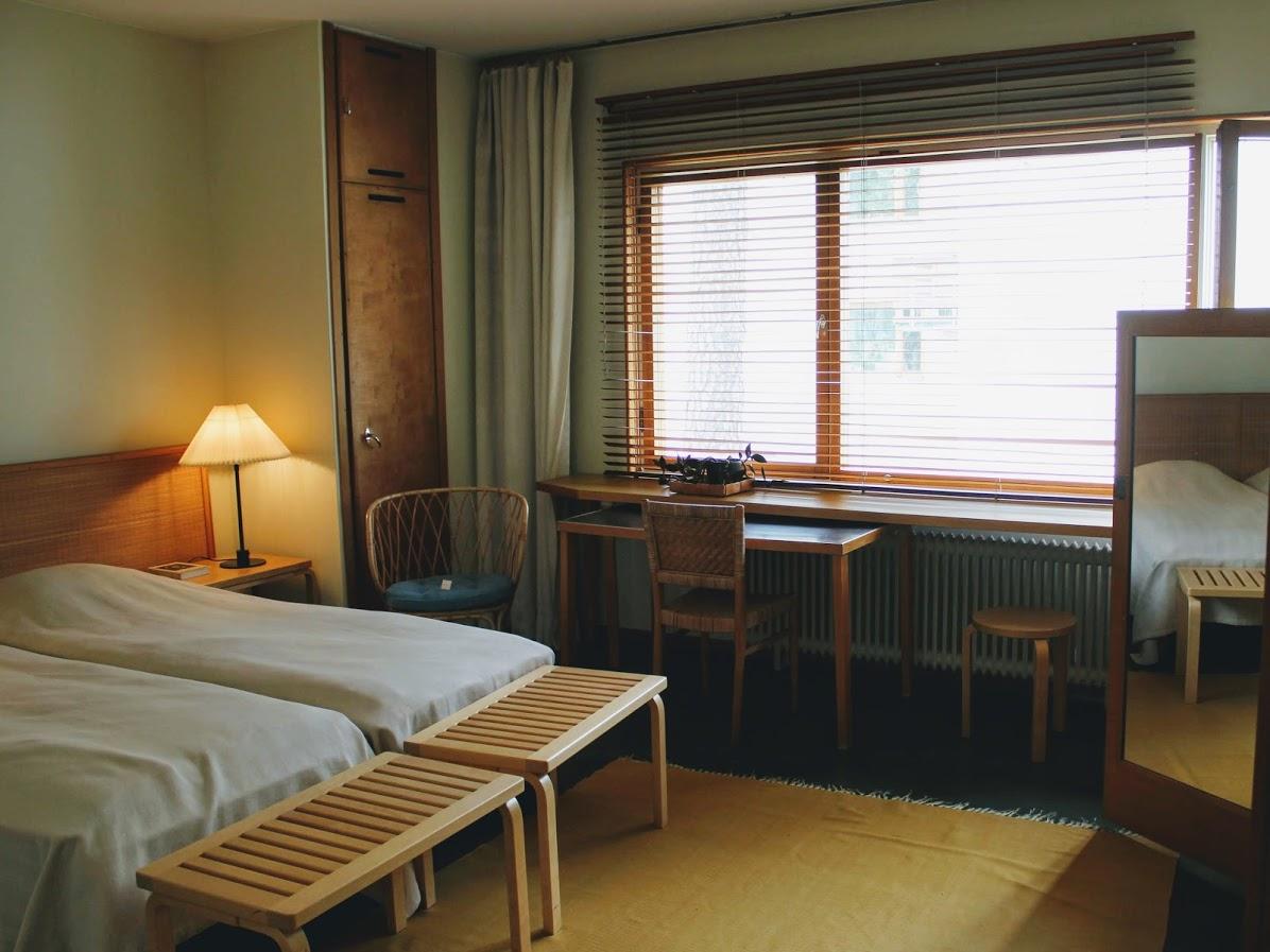 アアルトの自邸の寝室