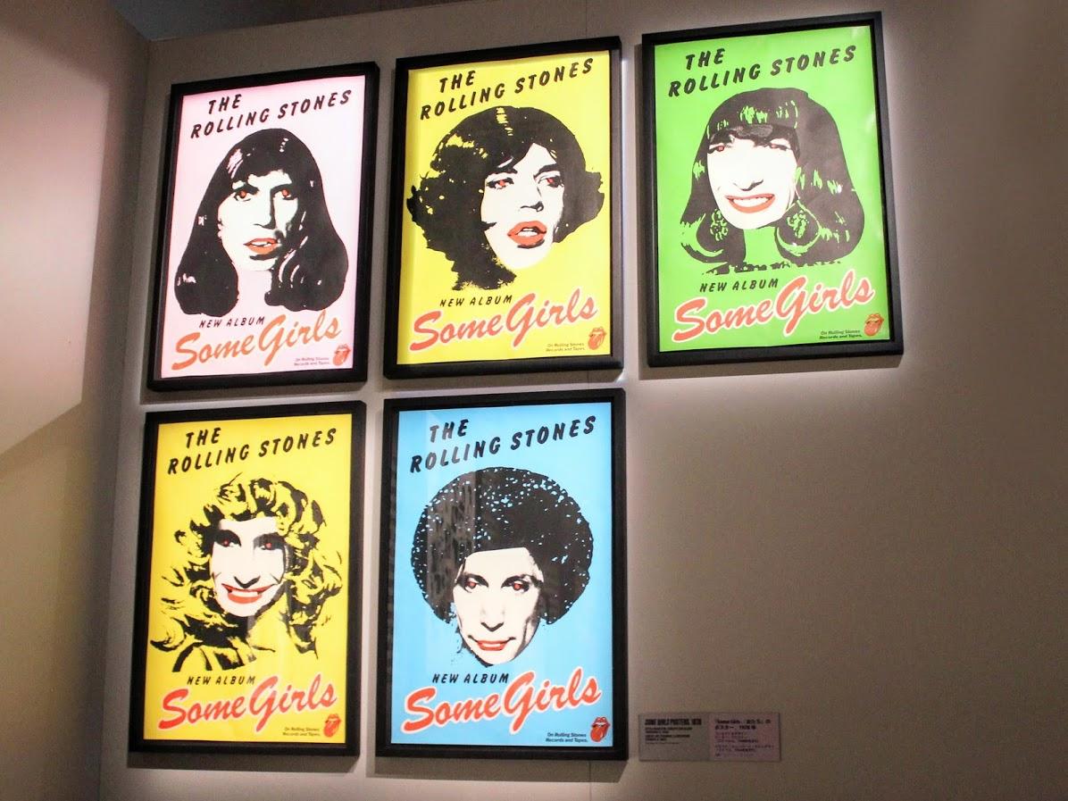 ローリングストーンズのサムガールズのポスター