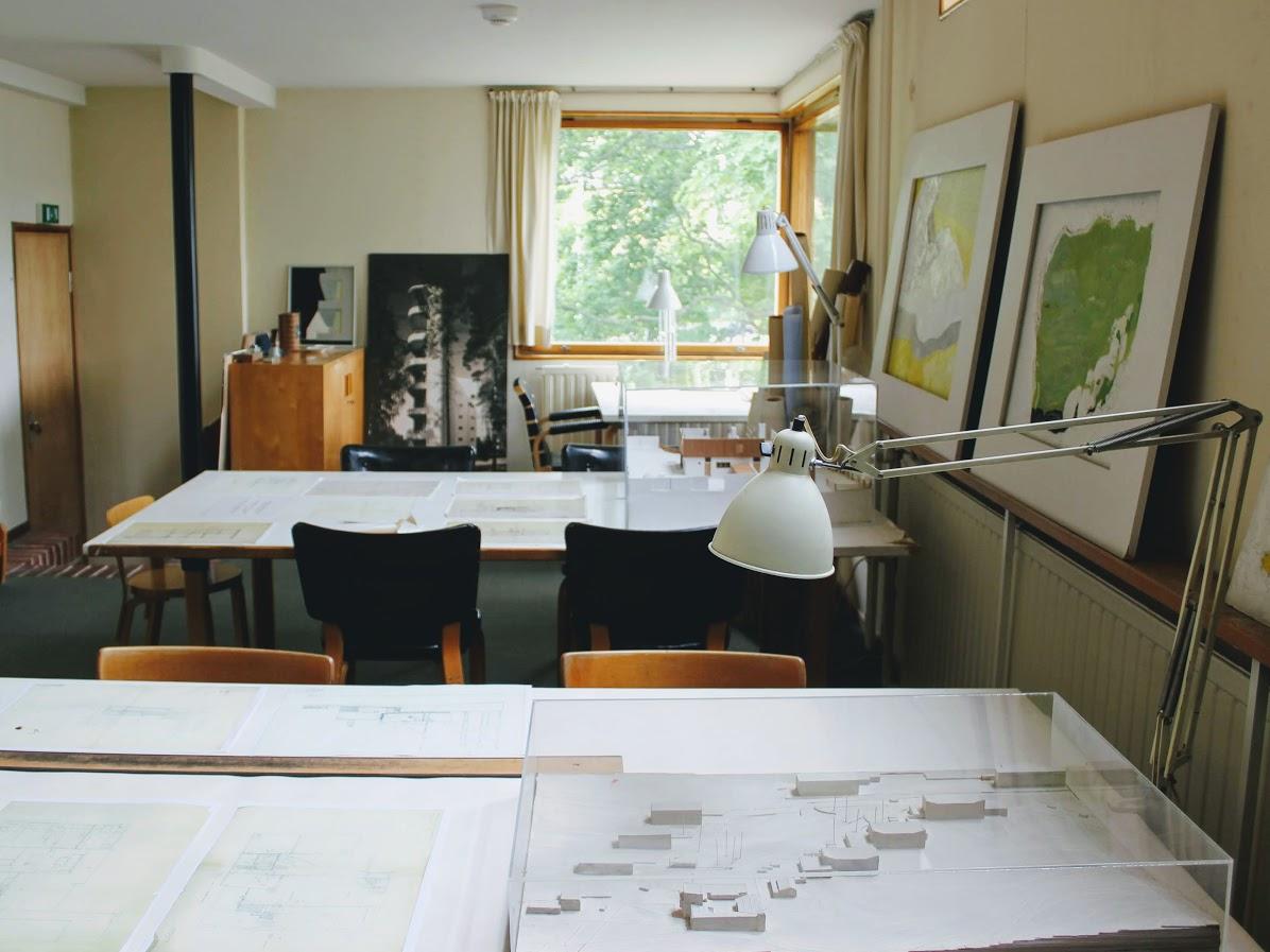 アアルトの自邸の設計図