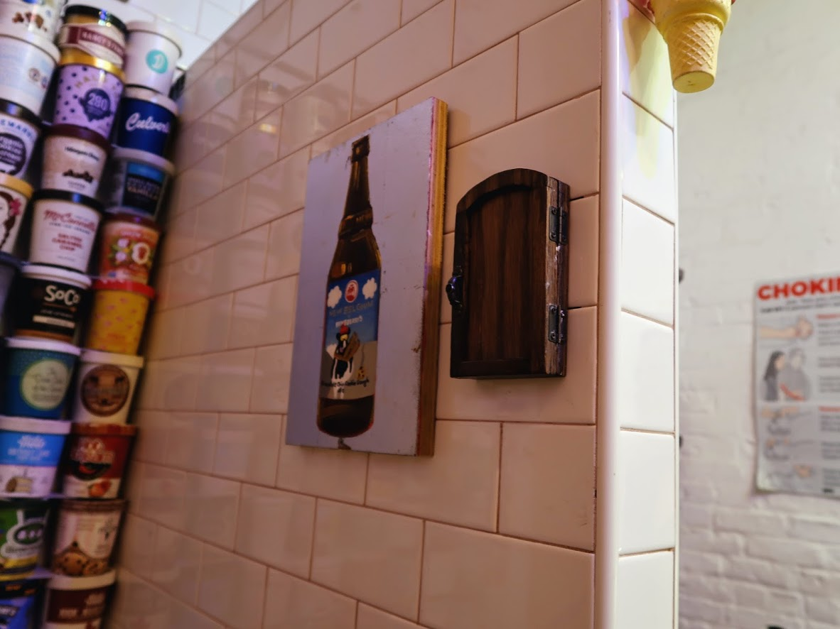 UESのアイスの壁のボタン