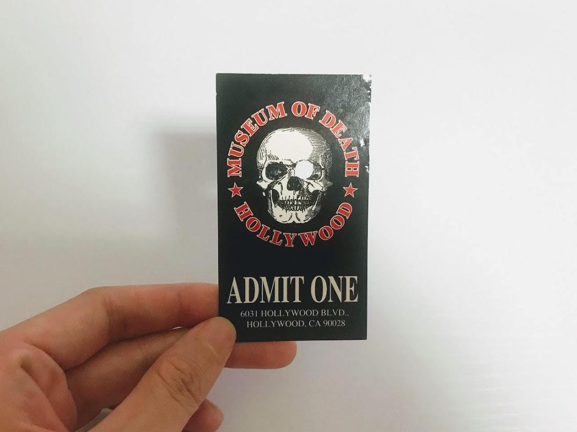 死の博物館のチケット
